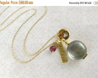 SALE Gold Locket Necklace, Gifts For Grandmother, Mimi, Nana, Glass Locket Necklace, Personalized Locket, Gift for Mother, Gold Locket