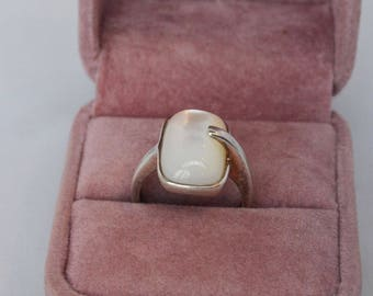 Vintage Sterling Silver Moonstone Wrap-around Ring Very Unique