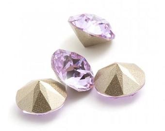 24 pieces Swarovski Crystal Violet Purple lavender lilac 4mm pp31 pointed back foiled Chaton gemstones jewels diy 1088 Rhinestone Beads