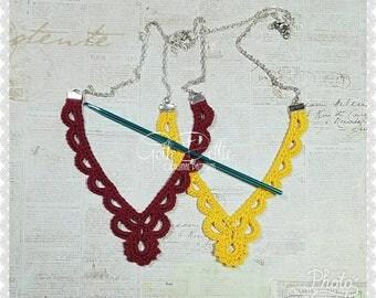 PDF PATTERN: Filigree Crochet Necklace by GothDollie