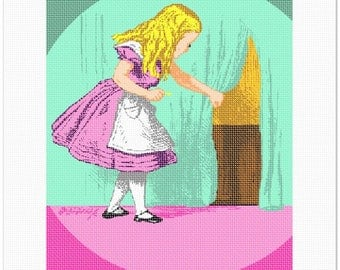 Needlepoint Kit or Canvas: Alice In Wonderland With Key