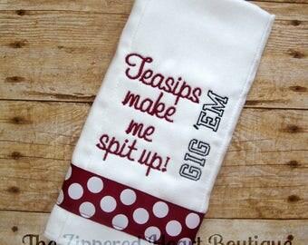 Aggie Burp Cloth
