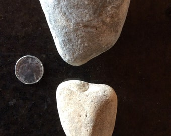 Two Heart Shaped Valentine Gift 100% Naturally Formed Rocks from our Creek