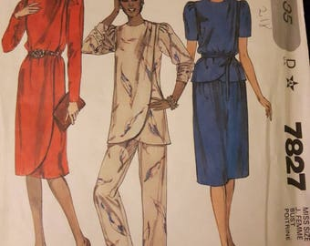 McCall's 7827, Dress, Tunic or Top, Skirt, and Pants Sewing Pattern