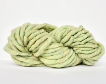 Super Chunky Yarn, Giant Yarn, Super Thick Yarn, Smoosh Yarn, Hand Spun Yarn, Roving yarn, Blanket Yarn, XL Yarn, Big Wool,  Limeade Heather