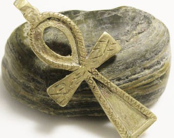 Large Ankh Cross Pendant made in Ethiopia, Key Of Life Symbol Pendant (AM62)