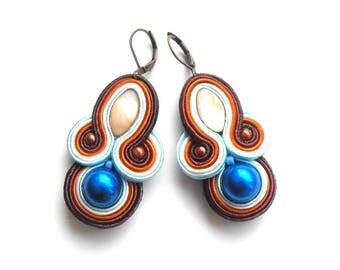 Earrings-soutache-boho-ethnic-OOAK Toffi