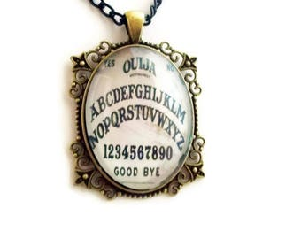 White Ouija Board - Witch Jewelry - Ouija Board Jewelry - Pagan Jewelry - Gothic Jewelry - Wiccan Jewelry - Creepy Cute - Occult Gift - Goth
