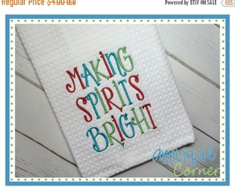 50% Off INSTANT DOWNLOAD Making Spirits Bright applique design in digital format for embroidery machine by Applique Corner