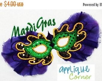 50% Off 388 Mardi Gras Mask applique design in digital format for embroidery machine by Applique Corner