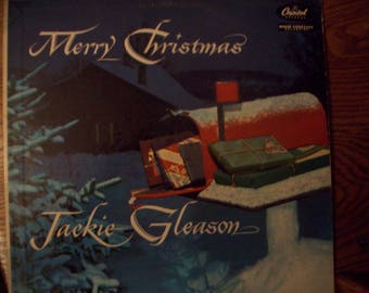 Merry Christmas Jackie Gleason Vinyl Album / Christmas Music/ LP/ 1956/ Capitol Records / Holiday Music