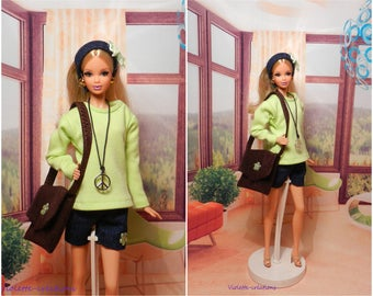 Year 70 outfit for barbie doll