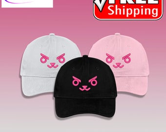 Overwatch Over Watch D. Va, D.VA, DVA Bunny Face Anime Embroidered Cap by Tori's World