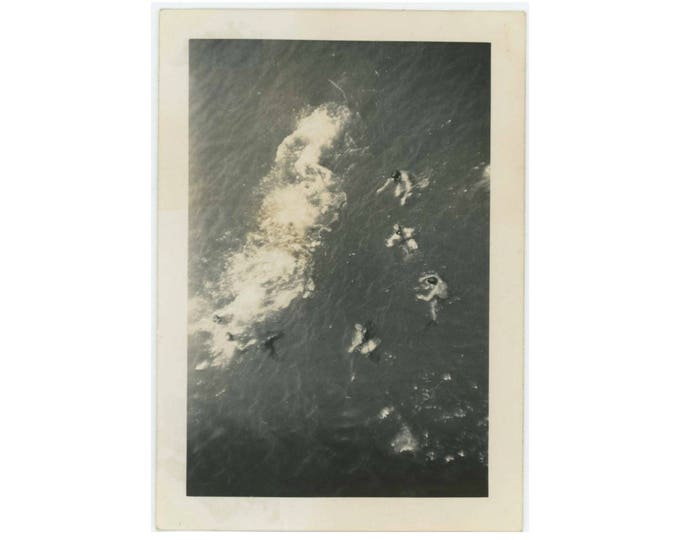 Swimmers, Overhead View: Vintage Photo Snapshot (77591)