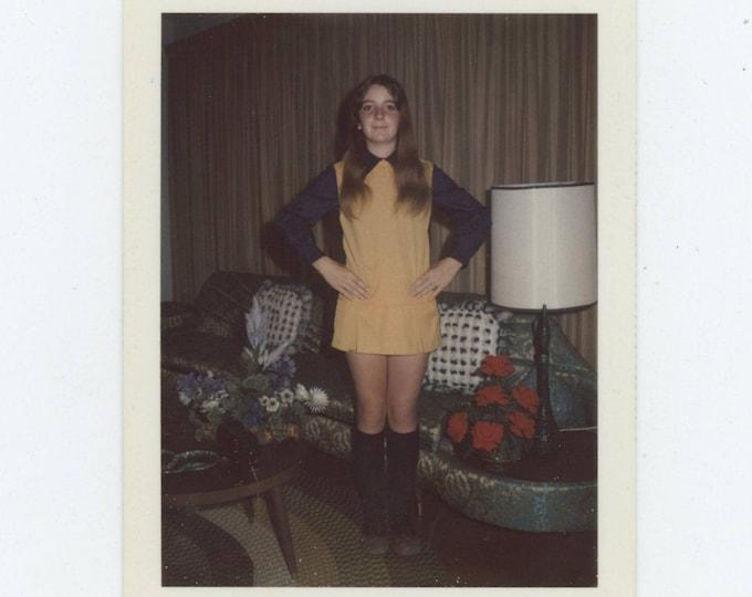Vintage Polaroid Snapshot Photo: Peggie, 1970s [81638]