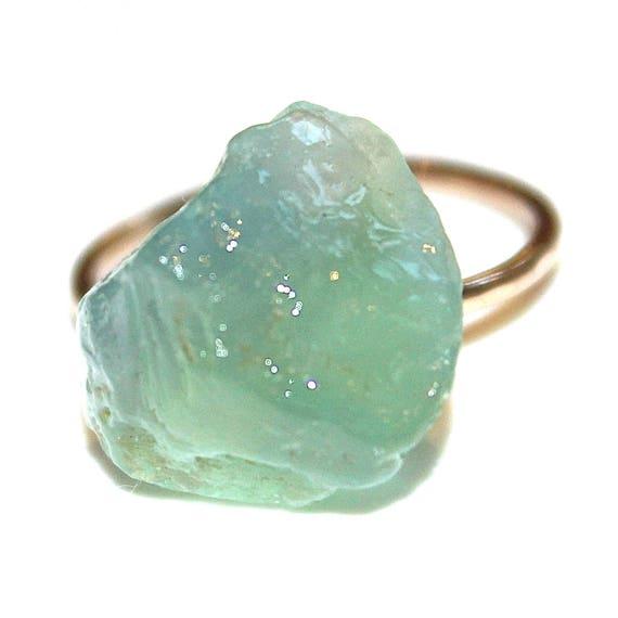 Blue Fluorite Nugget Ring