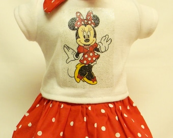 Minnie Mouse Theme Outfit  For 18 Inch Doll Like The American Girl