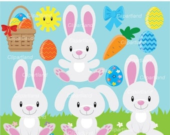 ON SALE INSTANT Download. Cb_11_Easter_bunny. Easter bunny clip art. Personal and commercial use.