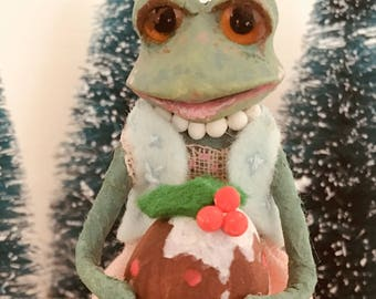 Mrs.Toad, Cupcakebears, kerstboom decoratie, Collector's item, handgemaakte