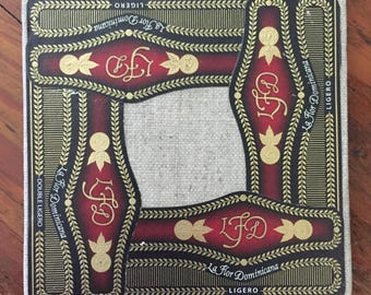 2017 Cigar Band Collage Coaster: Elegant LFD