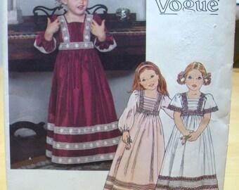 Free shipping! Little Vogue 1800 girls maxi dress Size 5 sewing pattern UNCUT