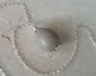 Custom Keepsake / Memorial Pendant or Necklace made from your Flower Petals or Pet fur or Cremains - BIRDS EGG