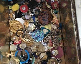 Lot of mismatched earrings
