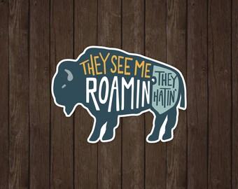Buffalo Roamin' | Vinyl Sticker Design