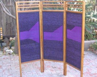 Room Divider Screen - Handwoven / Handmade Screen