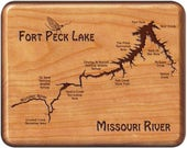 Fort Peck Lake River Map ...