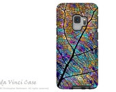 Stained Aspen Leaf Case for Samsung Galaxy S9 - Colorful Abstract S 9 Case with Art - Stained Aspen - Dual Layer Case by Da Vinci Case