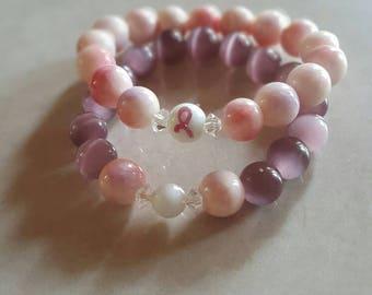 Light pink breast cancer awareness set