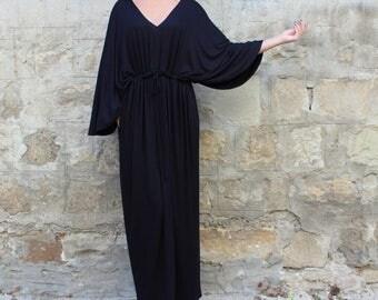 SALE ON 20 % OFF Black Maxi dress/ Long black dress/ Caftan/ Maxi Dress/ Plus size dress/ Summer dress/ Elegant dress/ Casual dress