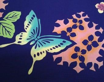 Butterfly Vintage Japanese cotton kimono fabric