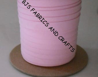 """Light PINK Bias Tape 1/2"""" Extra Wide Double Fold Bias Tape US Made 12 Yards"""