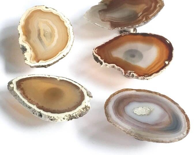 Neutral Agate Pull--Neutral Agate Handle--Neutral Agate Knob--Natural Agate Handle
