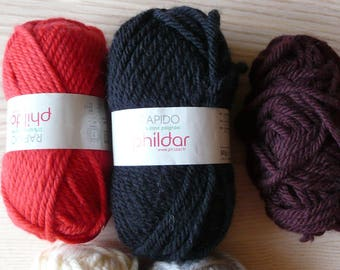 ball wool PHILDAR RAPIDO (many colors available)