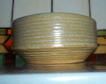 Mid-Century Zanesville Stoneware Co Pottery Planter or Serving Bowl - Homespun Line #8005