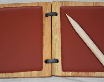 Wax Tablet w/ wooden stylus 3.5x4.5 inches -- Medieval ipad