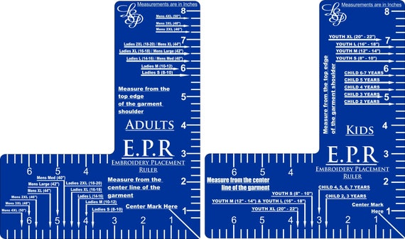 Revered image inside printable embroidery placement ruler