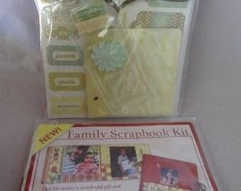 Craft Supplies - Set of Two Mini Scrapbook Kits