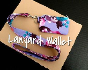 Purple Lanyard Wallet
