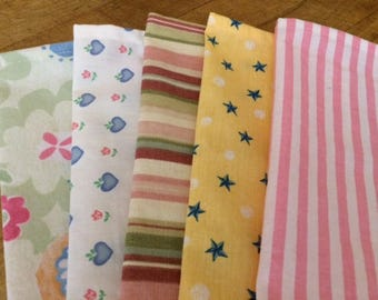 Kids Cloth Napkins School Lunchbox, Set of 5, Eco Friendly, FUN with Color, by CHOW with ME