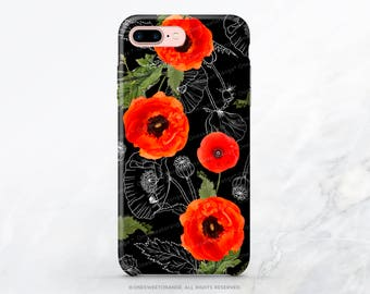 iPhone X Case iPhone 8 Case iPhone 7 Case Poppy Floral iPhone 7 Plus iPhone 6s Case iPhone SE Case Galaxy S8 Case Galaxy S8 Plus Case I30