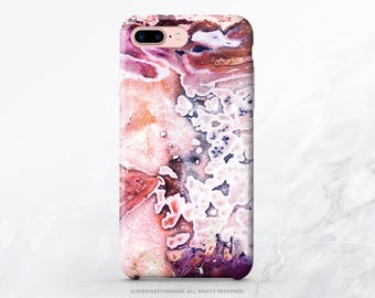 Agate Crystal iPhone X Case iPhone 8 Case iPhone 7 Case Agate Crystal iPhone 7 Plus Case iPhone 6s Case iPhone SE Case Galaxy S8 Case T18