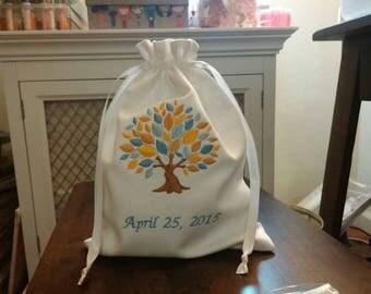 Custom Made Mazel Tov Groomu0027s Glass Bag