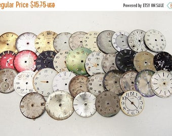 ON SALE Shabby Watch Faces - set of 35 - c4