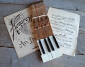 Antique Piano Keys   Reclaimed Piano Keys   Vintage Salvage   WM Knabe & Co. Antique Piano   Vintage Decor   Musical Decor   Repurposing