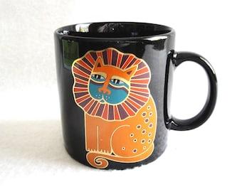 Vintage Laurel Burch Harlequin Cat Mug Japan
