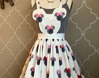 minnie inspired suspender skirt dress